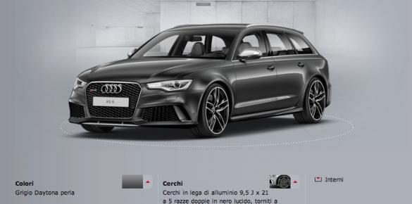 Configuratore Audi RS6